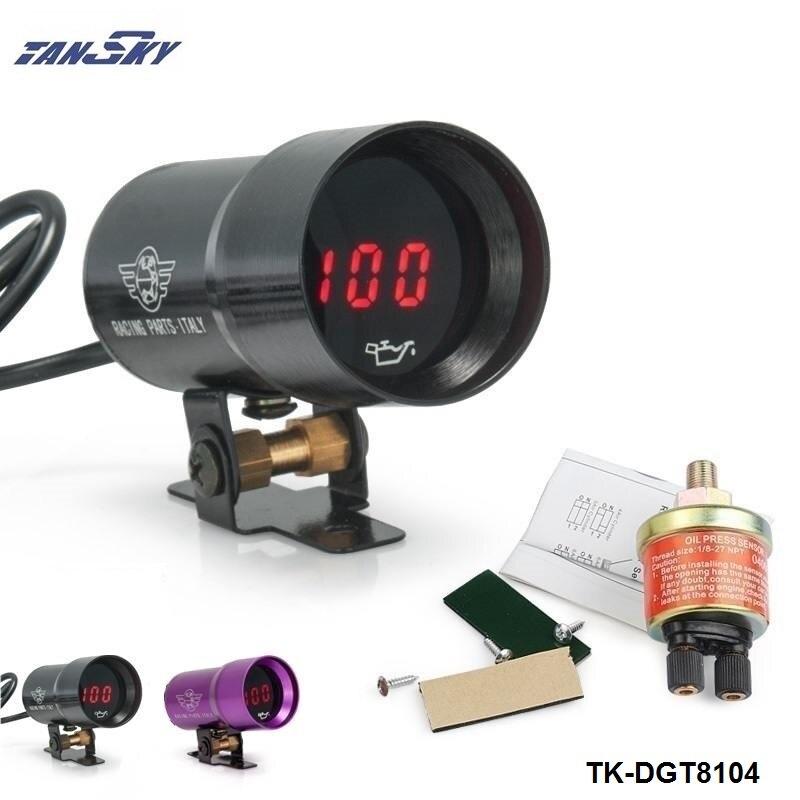 Prix pour TANSKY-37mm MICRO DIGITAL FUME JAUGE de PRESSION D'HUILE 3-4-6-8 CYLINDRE MOTEURS Noir, violet Pour Ford FOCUS 2.0 TK-DGT8104