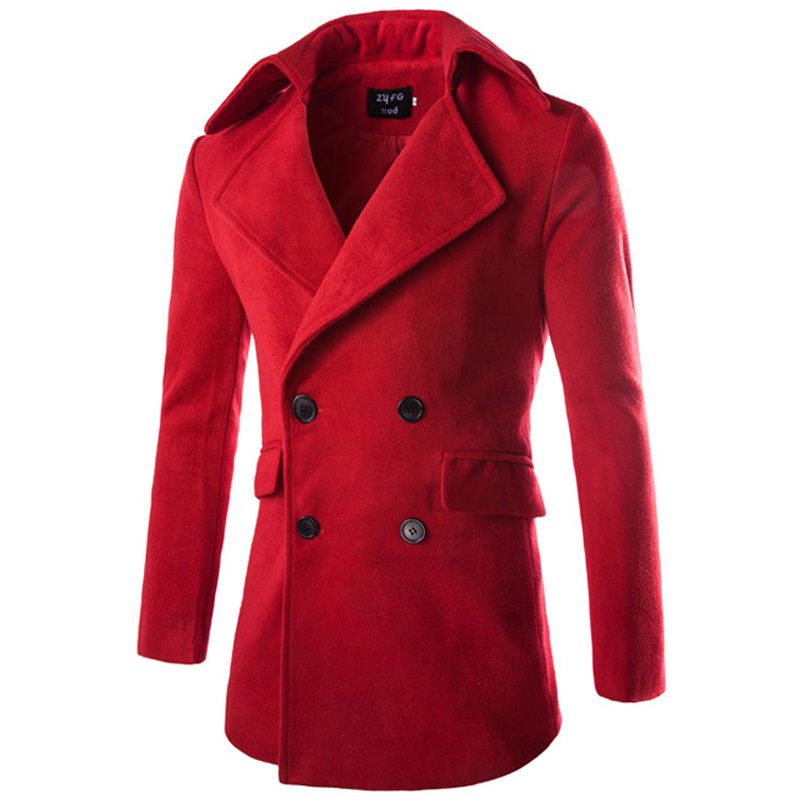 Popular Red Pea Coat-Buy Cheap Red Pea Coat lots from China Red ...