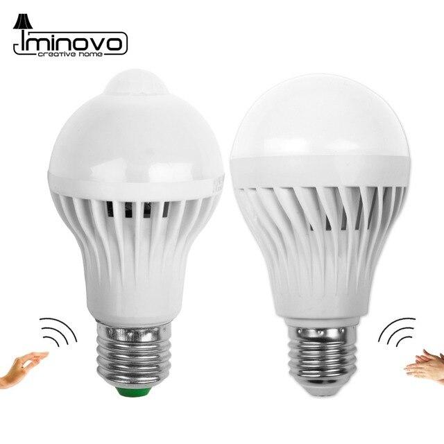 Led Bulb Motion Sensor Smart PIR Lamp E27 Auto Sound Light Radar Infrared Body Lamp 3W 5W 7W 9W 12W 110V 220V Home Decor