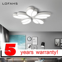 Lofahs современные светодиодные Люстра для гостиной спальня зал фойе салон домашние Потолочная люстра лампа светильники