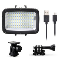 60pcs Led 1800LM Underwater 40m Diving Lamp Waterproof Video LED Light For DSLR GoPro Xiaomi Yi