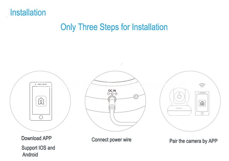 16-Lifesmart Home Automation Smart IP Camera Wifi Wireless Remote Control CCTV Camera for Security Alarm Night Vision 720P NTSCPAL