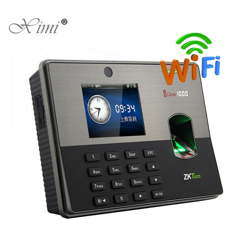 WIFI TCP/IP Biometric Fingerprint Door Access Control System ZK Iclock1000 Fingerprint Time Attendance Time Recorder Time Clock