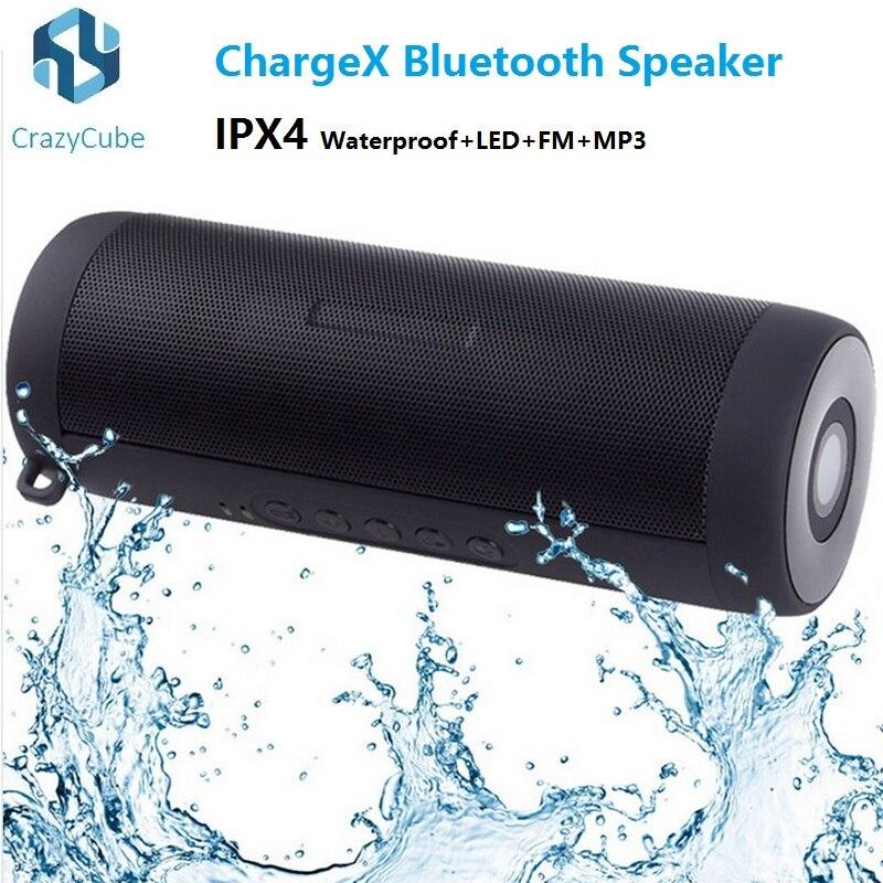 ФОТО CrazyCube ChargeX CHR2+ IPX4 waterproof portable wireless bluetooth speaker LED flashlight mp3 fm pk Flip Charge 2 Pluse 2