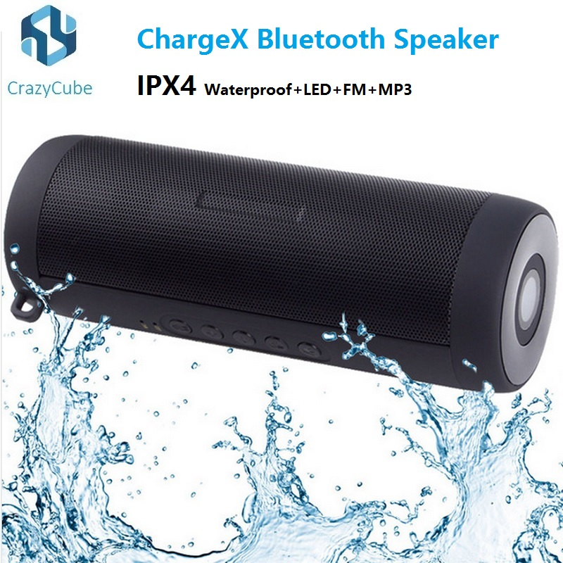 CrazyCube ChargeX IPX4 waterproof portable wireless bluetooth speaker LED flashlight mp3 fm pk JBL Flip Charge 2 Pluse  -  Dimension store store