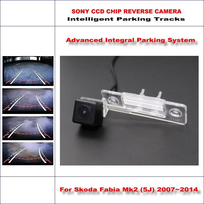 ФОТО Intelligent Parking Tracks Reverse Camera For Skoda Fabia Mk2 (5J) 2007~2014 Backup Rear / RCA AUX HD SONY CCD 580 TV Lines