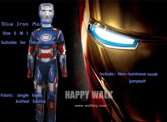 Iron Man Mark Patriot Muscle enfant Enfants Halloween Costume Fantasia Avengers Superhero Cosplay Outfit (2)