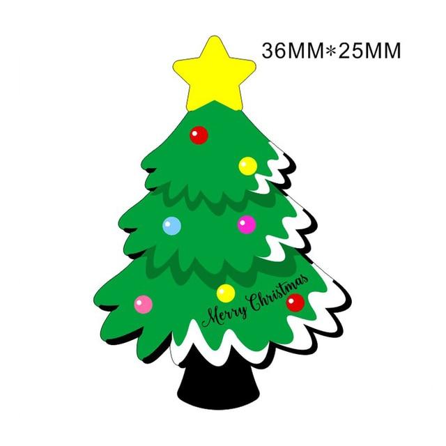 40pcslot 36x25mm christmas tree planar resin flatback cabochons xmas resin ornaments diy hair bow
