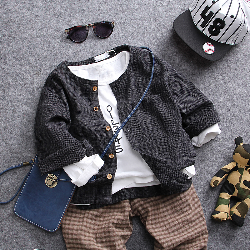 only coat 1pc 2-8Y new 2018 spring cotton boys shirt 1pc kids casual clothing kids boys coats chidren spring costume