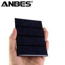 Высокое качество 12 В 1.5 Вт 6 В 0.6 Вт эпоксидной солнечных панелей Мини солнечных батарей поликристаллического кремния солнечной DIY солнечный модуль 115×85 мм