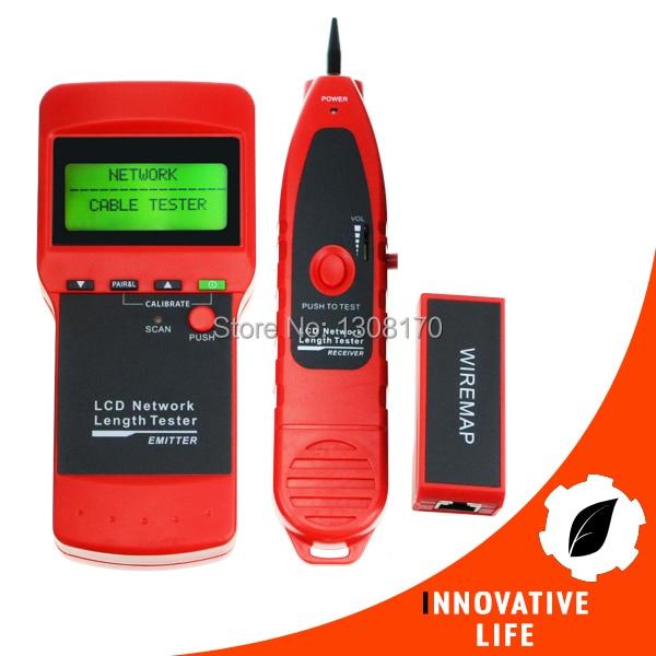 купить Network LAN Cable Wire Length Line Check 5E 6E Coaxial RJ45 USB Coax BNC Open/short circuit Jumper Wire Multipurpose Tester недорого