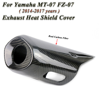For Yamaha MT 07 MT07 FZ 07 FZ07 Motorcycle 2014 To 2017 Exhaust Escape Muffler Heat Shield Cover Guar Carbon Fiber Protector