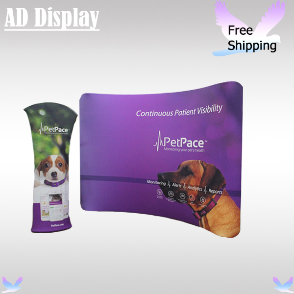 Expo Stand Backdrop : Expo booth 10ft*8ft portable curved easy fabric fast show display