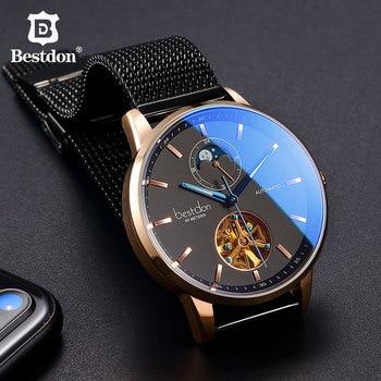 Bestdon Luxury Mechanical Watch Men Automatic Tourbillon Sports Watches Mens Fashion Switzerland Brand Watch Relogio Masculino