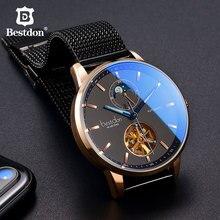 Bestdon高級機械式腕時計メンズ自動トゥールビヨンスポーツ腕時計メンズファッションスイスブランド腕時計レロジオmasculino