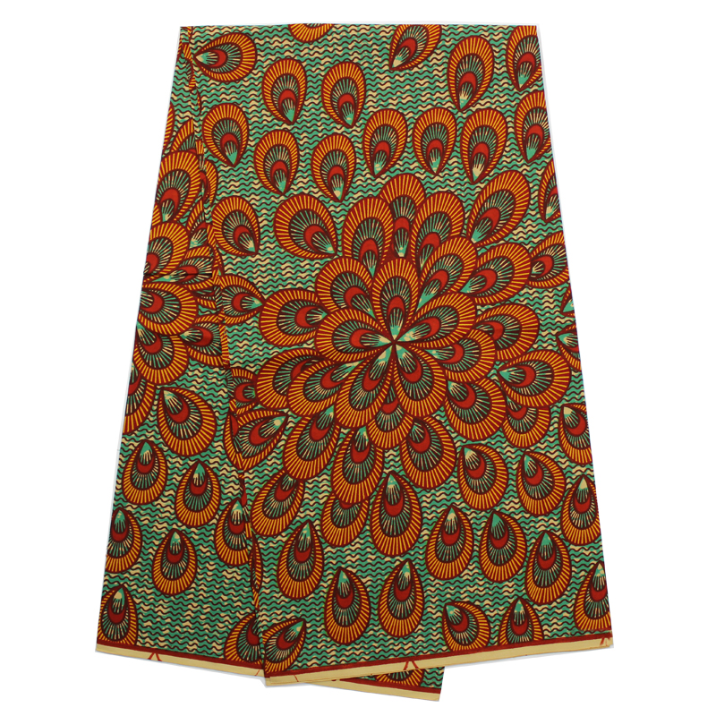 African Wax Hollandais Nigerian Cotton Material Real Wax Prints High Quality Batik Fabric for Sewing Clothes/ Dress