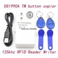 1pcs Lot TM Card Reader Handheld Duplicator DS1990 TM1990 RW1990 And 125khz Rfid Copier 2pcs RW1990