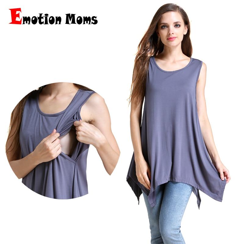 Emotion Moms Maternity Kläder amma Tank Tops / Camis Modal graviditetsomsorg väst topp för gravida kvinnor kläder