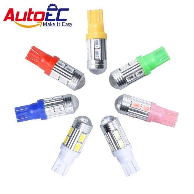 Autoec Dans Tour Couleur W5w Avec X De Lampes Queue Voiture Automobile Ampoules 2 Led VLb108 10 Smd5630 Lentille 7 12 Projecteur Signal X8nwPNk0O