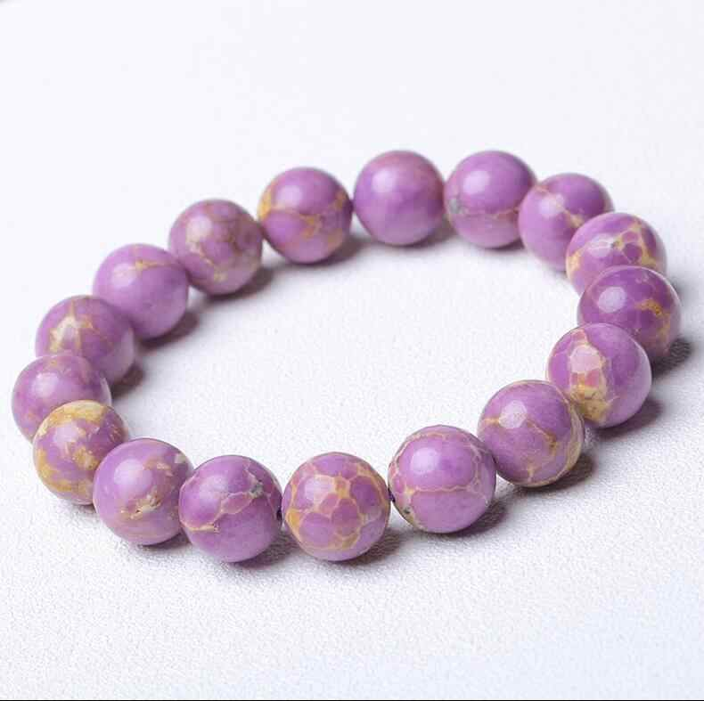 XUEYUN 2017 705+++The United States natural mica stone bracelet  lilac Ziyun female oblique iron ore
