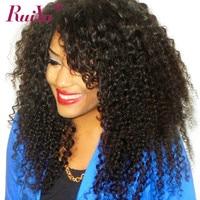 RUIYU Afro Kinky Curly Hair Lace Front Brazilian Human Hair Wigs For Black Women Non Remy