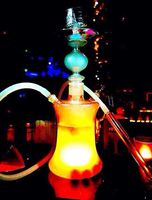 Led light glass water pipe bottle kit hookahporn sigle hose narguitest smoking accessories bar club