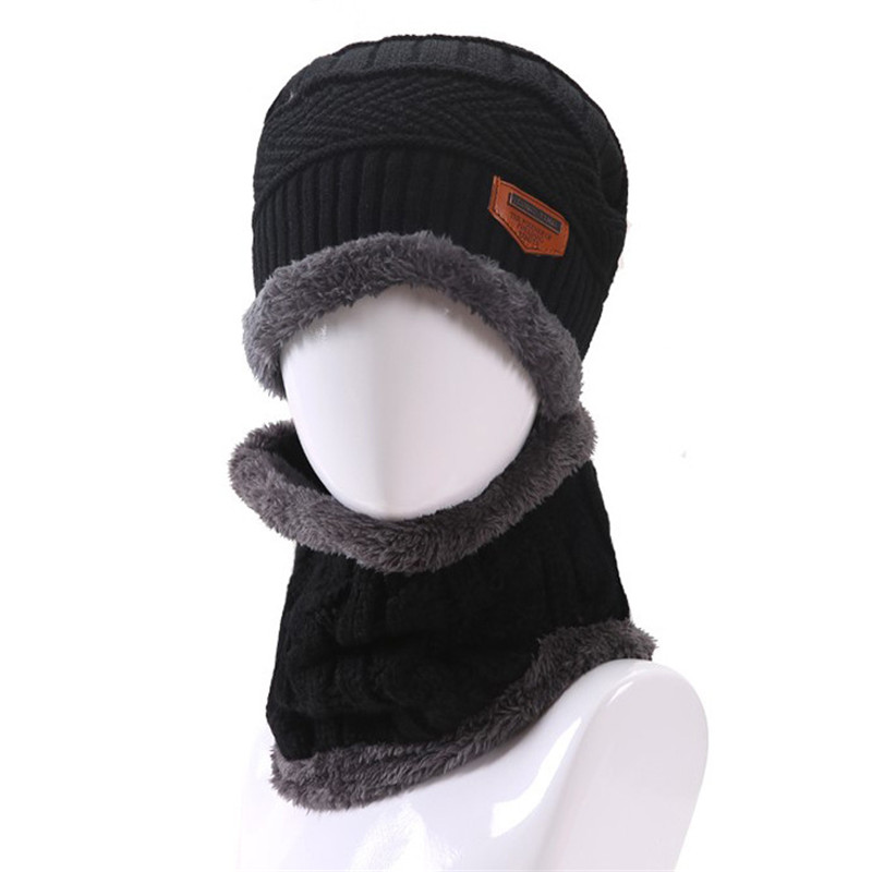ec9ae3b07a3 Hot Sale Winter Warm Men Beanies Hats Knit Wool Hat for Unisex Caps Lady  Beanie Knitted Caps Women s Hat scarf set-in Skullies   Beanies from  Apparel ...