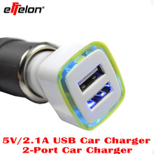 Effelon Universal Dual 2 Port USB Car-Charger For iPhone 3.1A Mini Car Charger Adapter For Android Phone Tablet