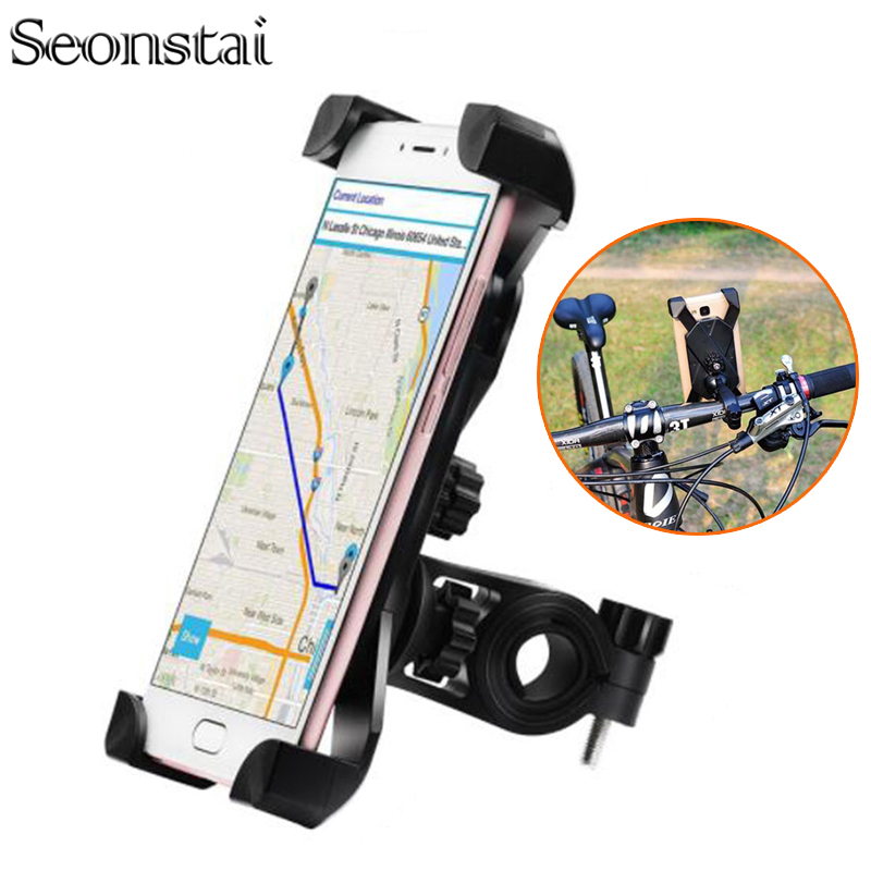 Seonstai Bicycle Motorcycle Handlebar Mount Holder Universal Phone Holder Bike Rotating 360 Degrees Phone Stand for Phone GPS