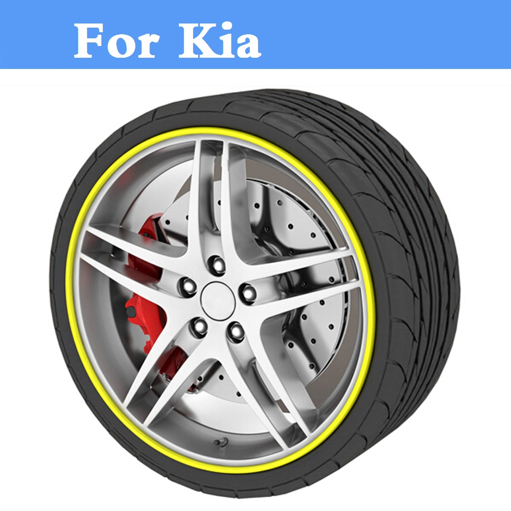 8M Car Rim Sticker Wheel Hub Protector Motorcycle Decal For Kia Cadenza Cee'd GT Cerato Forte K3 K5 Magentis Mohave Morning kia mohave intro chr 1816 mw