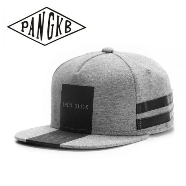9423a1adecb53 PANGKB Brand TRES SLICK CAP light grey heather snapback hat hip hop  Headwear for men women adult outdoor casual sun baseball cap