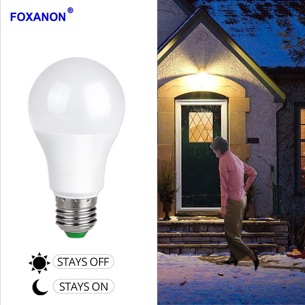 Us 5 08 39 Off Foxanon Sensor Lights Bulb Dusk To Dawn Led Light Bulbs Smart Lighting Lamp 10w 15w E27 B22 Automatic On Indoor Outdoor Yard In