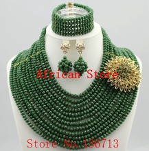 2015 Best Selling Red African Crystal Beads Jewelry Set Nigerian Beads For African Wedding Free Shipping SD122-3