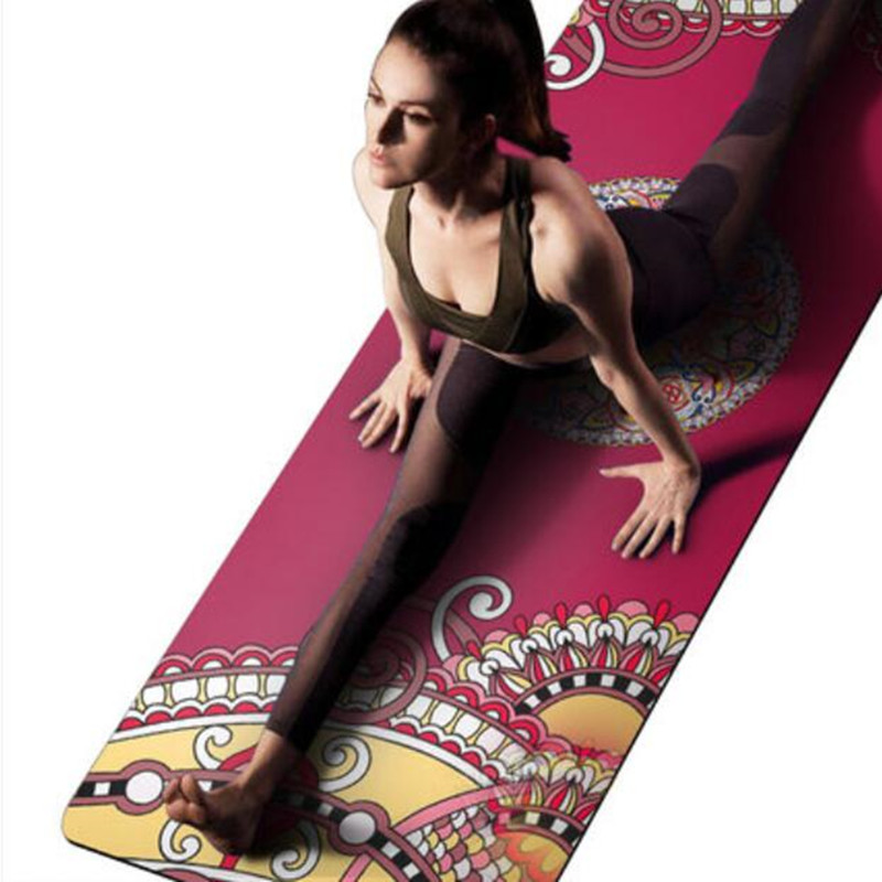 Yoga Mat 1.5mm Natural Rubber High Quality Suede Anti-Skid Foldable Outdoor Pilates Training Mats Body Fitness Exercise Pad new yoga pilates exercise high density eva foam massage roller fitness home gym massage