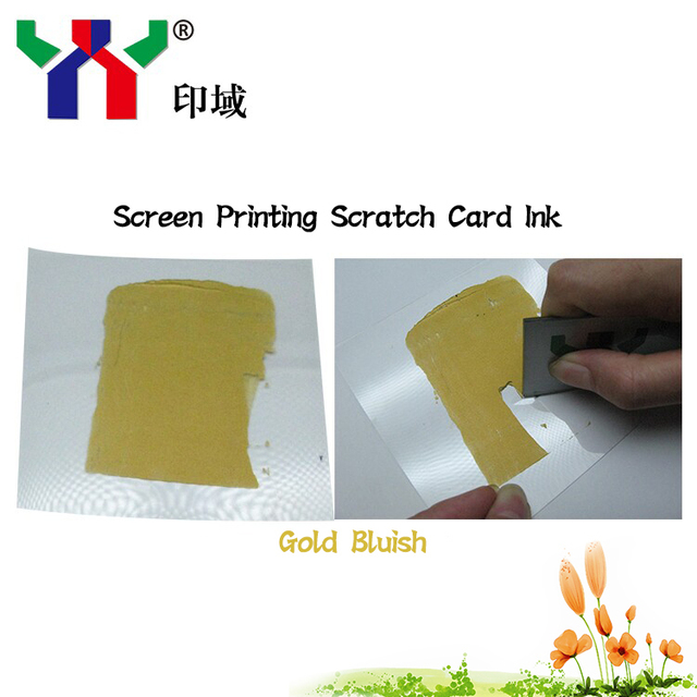 Screen Printing Scratch Off Ink Bluish Gold Color