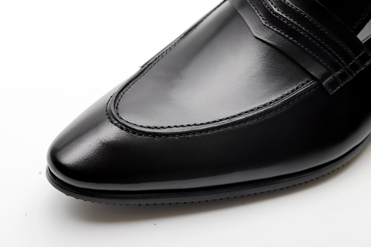 New Genuine Cow Leather Wingtip Shoes Men For Wedding Fashion Slip On Dress Shoes Oxfords Black Brown Shoes Classic in Formal Shoes from Shoes