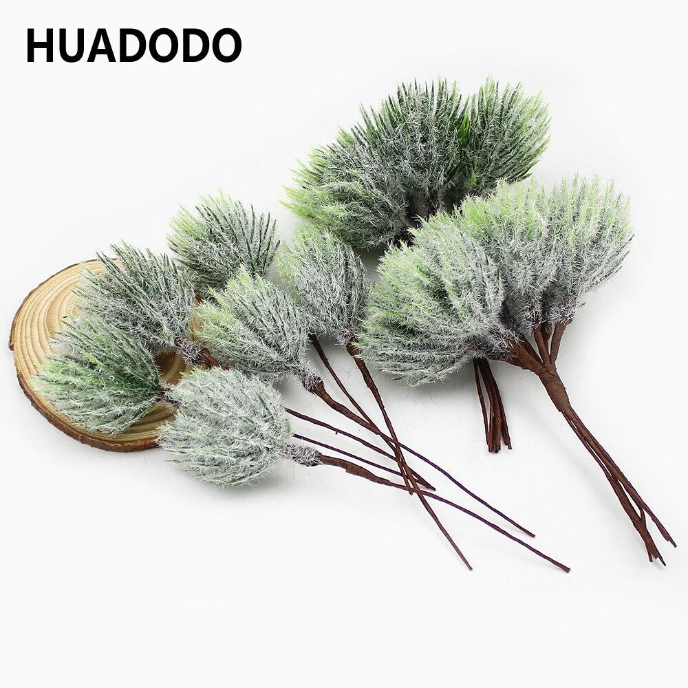 HUADODO 6 шт. искусственные сосновые иголки, золотые, серебристые рождественские искусственные цветы для свадебного венка, сделай сам, Рождественское украшение|Искусственные и сухие цветы| | АлиЭкспресс