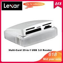 100% Original Lexar Multi Cartão 25 em 1 tecnologia SuperSpeed USB 3.0 card Reader para SD CF TF XD M2 velocidade de até 500 MB/s