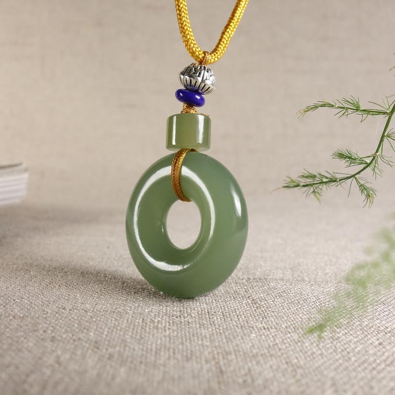 Fine jewelry old pit material hetian yu ping clasp pendant/Fine jewelry old pit material hetian yu ping clasp pendant/