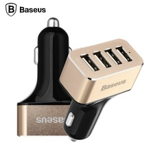 BASEUS Dual Port 3-Port 4 Port USB Car Charger Adapter Smart Voyage Series Quick Charging For iPhone 6 Plus Smartphone Tablet PC