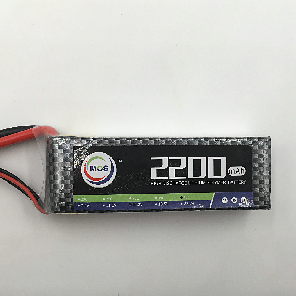 MOS 4S lipo battery 14 8v 2200mAh 40C For font b rc b font helicopter font