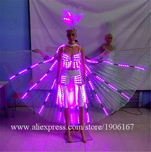 2 Sets Colorful Led Luminous Party Evening Dress Sexy Women Light Up Stage Performance Clothes Costumes For Club Bar Christmas