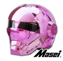 Личность мотоциклов Подлинная шлем мужчин и женщин железный человек ретро высокого класса off-road мотоцикл анфас порошок покрытие