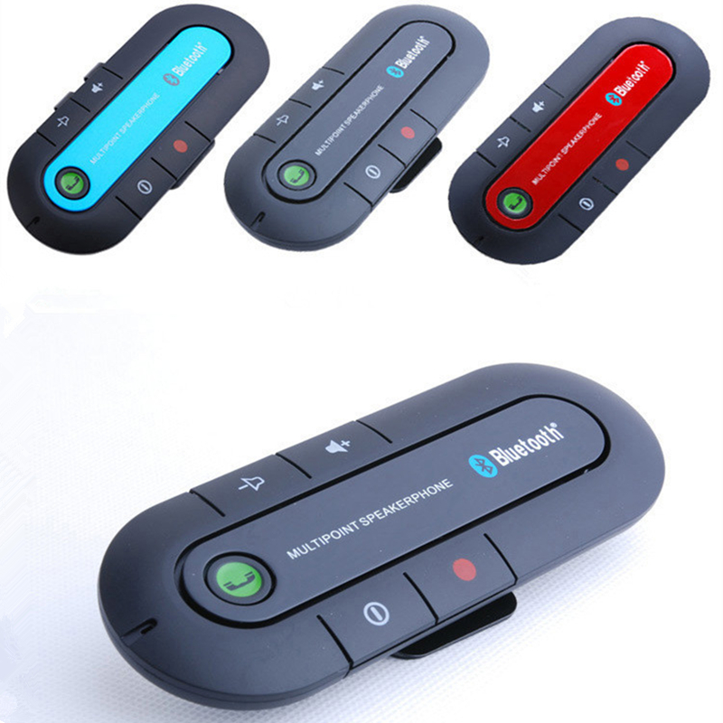 2017 New Bluetooth4.1 Bass Stereo 129MM Car Kit Speaker Multipoint Speakerphone Hands Free Music Receiver Player FM Transmitte rs 1010bt car bluetooth hands free stereo mp3 player
