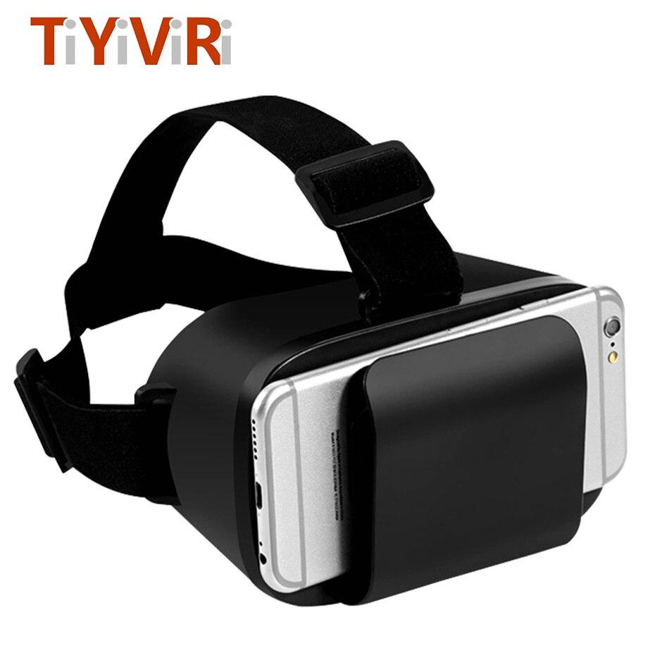 VR Box 3D Occhiali di Realtà Virtuale 360 Panorama di Video Occhiali di Cartone Auricolare Per 4.7-6.0
