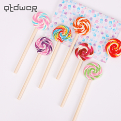 New Fashion 0.5mm Black Ink Lovely Lollipop Ballpoint Pens for Kids Stationery Candy Pen Office School Supplies