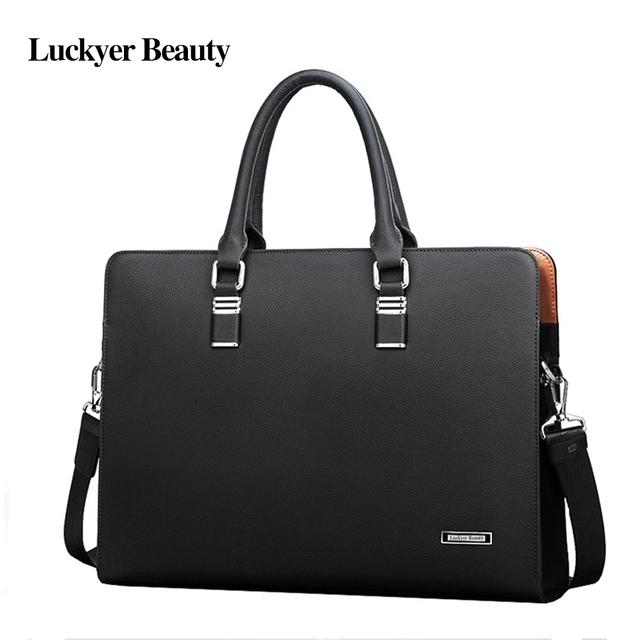 2018 High Quality Men's Leather Briefcase Men Online