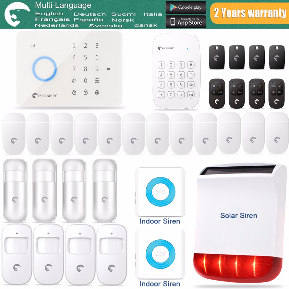 IOS Android APP Control Wireless Home Security GSM Alarm System Remote Control Autodial Siren Sensor Kit wireless gsm pstn home alarm system android ios app control glass vibration sensor co detector 8218g
