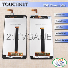 Free Shipping 100%Original LCD Display Screen 1920*1080 For Xiaomi MI4 Smart Phone Assembly