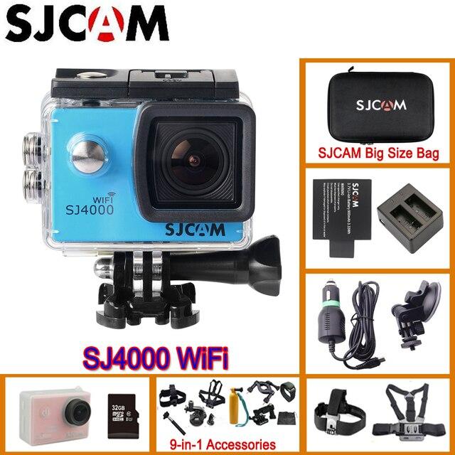 원래 SJCAM의 SJ4000 와이파이 액션 헬멧 스포츠 카메라 다이빙 30 메터 방수 H.264 1080 마력 풀 HD 수중 스포츠 DV